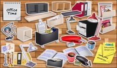 Lana CC Finds - Office Time clutter set by SIMcredible!