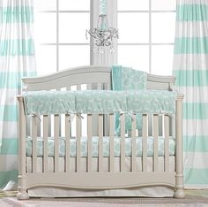 Mint Green Nursery Design | Mint Crib Bedding | Woodland Crib Bedding
