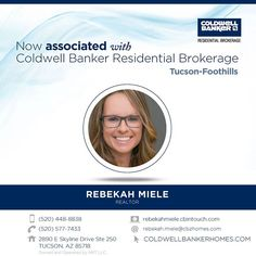 Welcome to Coldwell Banker Residential Brokerage Rebekah Miele! Call Rebekah at 520-448-8838 to introduce yourself. #ColdwellBankerArizona