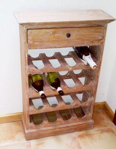 pallet wood  wine bottle rack