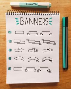 Drawing Ideas For Beginners Inspiration Hand Lettering 68 Super Ideas Bullet Journal School, Bullet Journal Writing, Bullet Journal Banner, Bullet Journal Aesthetic, Bullet Journal Ideas Pages, Bullet Journal Inspiration, Lettering Tutorial, Journal Fonts, Banner Doodle
