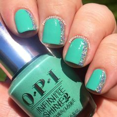 OPI Infinite Shine Polish boasts of mirror-like gloss that can last up to 10 days. It removes as easily as regular nail lacquer. See the essentials here and create this on your next mani.