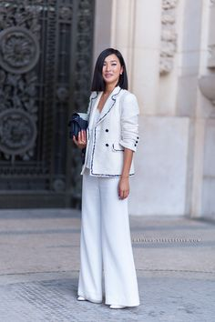 Nicole Warne - Paris Fashion Week Fall 2014 Street Style