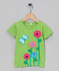 Look what I found on #zulily! Limeade Flower Lettuce-Edge Tee - Infant, Toddler & Girls #zulilyfinds