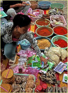 Spices, Luang Prabang market, Laos