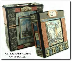 AWESOME!   Cityscapes Mini Album PDF Tutorial by MemoriesByLea on Etsy