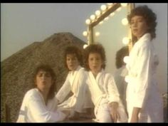 """Harden My Heart"" by Quarterflash - a good ole classic 80s hit; this is where I was able to get my acting debut as a young fro in a bathrobe (the middle one)...well it's not me but it looks like me at 7 haha"