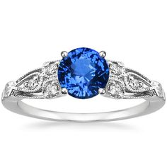 Platinum Sapphire Rosabel Diamond Ring from Brilliant Earth