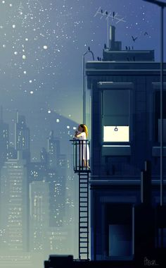 Pascal Campion — Wishing for… Ps. just quick ones. Comics Illustration, Digital Illustration, Night Illustration, Amoled Wallpapers, Pascal Campion, Wow Art, Anime Scenery, Noragami, Aesthetic Art