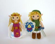 Link and Zelda amigurumi justine