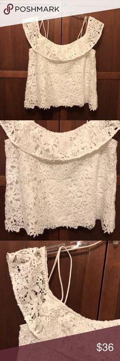 Zara basics open arms crochet top Beautiful elegant comfort excellent condition top Zara Tops Blouses