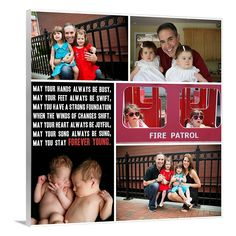 family collage with words and photos