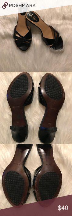 Cole Haan Black Open Toe Heels Cole Haan Black Open Toe Heels Cole Haan Shoes Heels