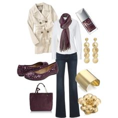 """Plum  Gold"" for Fall. Wear this and what a dazzling diva you will be:)"