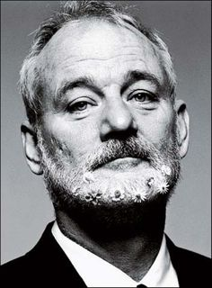 Bill Murray, of the daisy beard