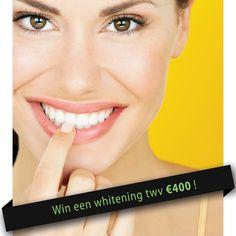 Win een whitening twv €400, ga nu naar https://www.facebook.com/pages/GlamSmile-Belgium/280229002085075?ref=hl en waag je kans!
