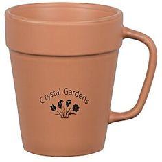 Plant your promotional message alongside this ceramic mug!