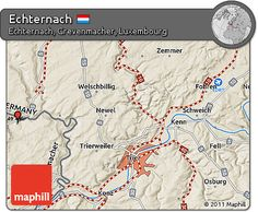 awesome Map of Echternach