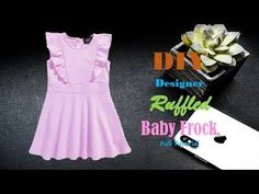 Diy Designer Ruffled Baby Frock For 2 to 3 year baby girl Cutting And Stitching Full Tutorial Baby Girl Dresses Diy, Baby Girl Frocks, Frocks For Girls, Girls Dresses, Baby Dress Design, Frock Design, Baby Girl Fashion, Kids Fashion, Diy Fashion Projects