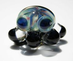 bellaquapuss glass octopus by krixbeeble on Etsy. these big blue eyes melt hearts.