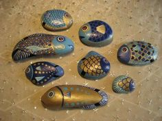 Blue and Gold Fish Family