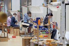 Weavers at work at Dovecot Studios. Image Kieran Dodds