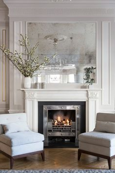 White living room ideas: 25 schemes and ideas for a chic white living room | Livingetc White Living Room Chairs, Modern White Living Room, Small Living Room Design, Classic Living Room, Formal Living Rooms, Living Room Designs, Living Room Decor, Living Room Heater, Minimal Living