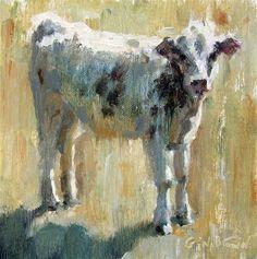 """Baby Calf"" - Original Fine Art for Sale - © Gina Brown"