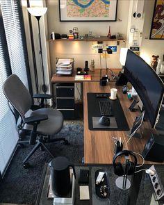 Workspace Design, Office Interior Design, Office Interiors, Home Office Layouts, Home Office Setup, Desk Setup, Home Deco, Home Studio Setup, Small Home Offices