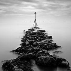 Ocean Marker Photograph - Receding Tide by Dave Bowman