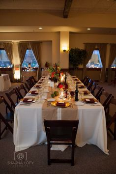 We love long banquet style tables too!
