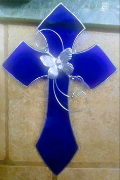 My new cobalt glass cross