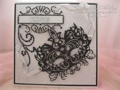 Card made using the Tattered Lace mask die