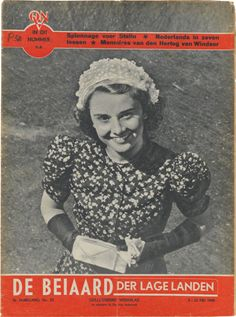 Rare : The May 1948 issue of the Dutch magazine, De Belaad der Lage Landen, shows Audrey Hepburn in her first film, Dutch in Seven Lessons.