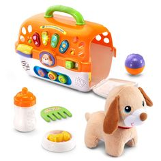 VTech Care for Me Learning Carrier Toy, Orange ** For more information, visit image link. (This is an affiliate link) Toys For Boys, Kids Toys, Kids Toy Chest, Gifts For Kids, Great Gifts, Thing 1, Toys Online, Learning Toys, Educational Toys