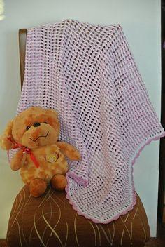 RŮŽOVO-BÍLÁ+DEKA+PRO+MIMI+háčkovaná+deka+do+kočárku+nebo+postýlky,rozměr-80x77+cm,příze-55%+ba,45%+akryl Blanket, Blankets, Cover, Comforters