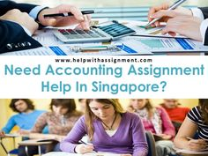 Helpwithassignment.com provides reliable and best quality Singapore accounting assignment help with affordable charges. Assignment concepts given to students are physically difficult to comprehend. Also the chosen areas are too complex for college students to handle on. As student life is too busy, it will be difficult to do lots of research and submit assignment on time.
