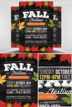 Flyer Template PSD - Fall Festival 2
