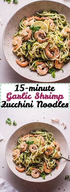 Minute Garlic Shrimp Zoodles Want a fast low-carb meal that's healthy and tasty? Try these 15 minute garlic shrimp zoodles.Want a fast low-carb meal that's healthy and tasty? Try these 15 minute garlic shrimp zoodles. Zoodle Recipes, Spiralizer Recipes, Fish Recipes, Low Carb Recipes, Cooking Recipes, Healthy Recipes, Delicious Recipes, Healthy Low Carb Meals, Salad Recipes
