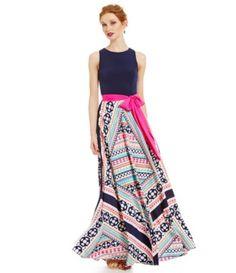 Eliza J Scarf Print Maxi Gown #Dillards