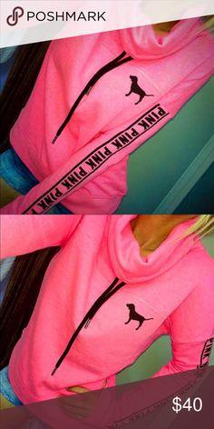M vs pink bright cowl neck sweater Excellent condition PINK Victoria's Secret Sweaters Cowl & Turtlenecks