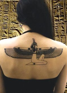 I adore Egyptian symbols, but can never dare this.