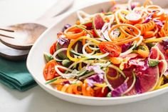 Recipe: Rainbow Veggie Noodle Salad — Recipes from The Kitchn | The Kitchn