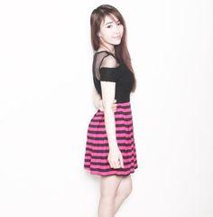 Đầm xòe đẹp sọc xinh xắn