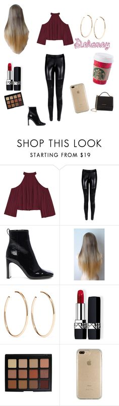 """""""My BFF Delaney"""" by mountaindewqueen15 ❤ liked on Polyvore featuring W118 by Walter Baker, rag & bone, Jennifer Fisher, Christian Dior, Morphe, Speck and Givenchy"""