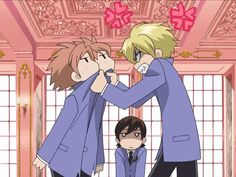 GIFs of Ouran High School Host Club's Two-of-a-Kind Twins ...