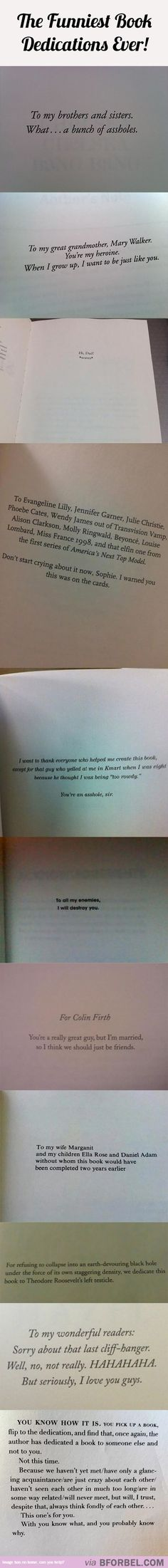 11 Of The Funniest Book Dedications Ever…