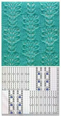 Beautiful Lace knitting with graph pattern Lace Knitting Stitches, Baby Boy Knitting Patterns, Crochet Stitches Patterns, Knitting Charts, Lace Patterns, Easy Knitting, Knitting Designs, Stitch Patterns, Ravelry