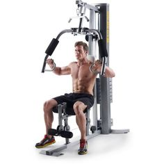 Gold's Gym XRS 50 Home Gym with High and Low Pulley System, Black