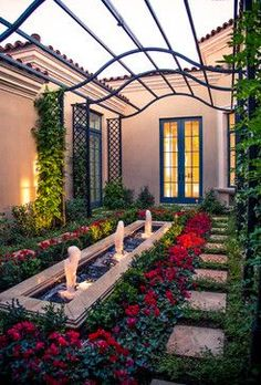 Mediterranean Landscape by Scottsdale Landscape Architects & Landscape Designers BERGHOFF DESIGN GROUP